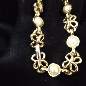 Napier Gold and Pearl Bracelet